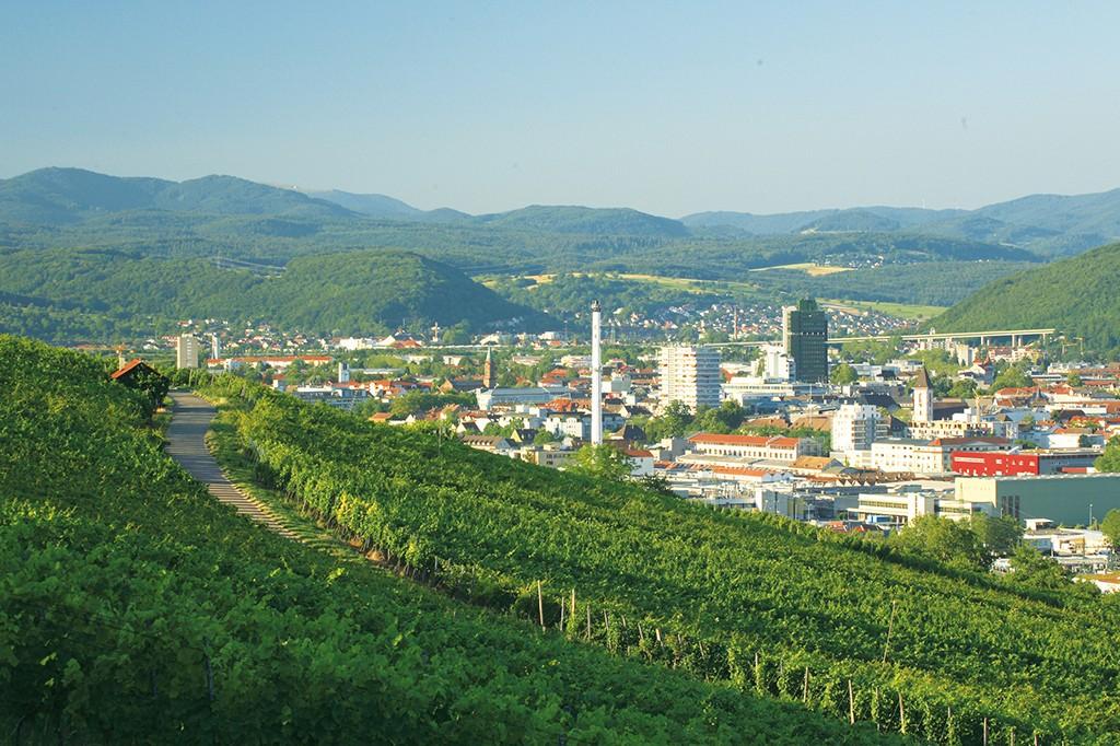 Die Stadt Lörrach im Schwarzwald